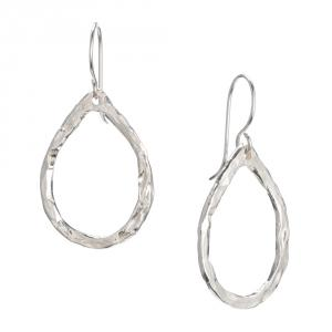 Hammered Raindrop Earrings