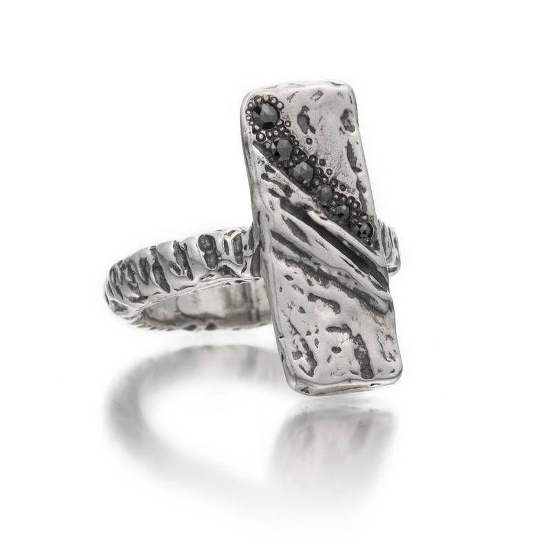 Wild River Black Diamond Ring