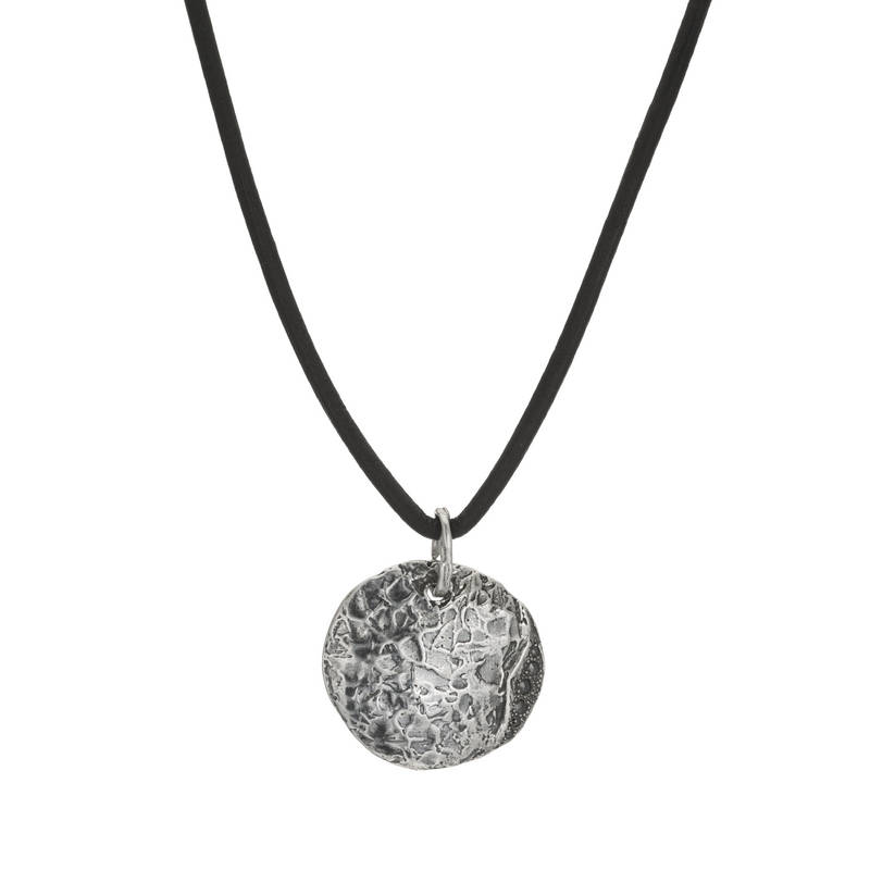 Lunar Eclipse Black Diamond Necklace