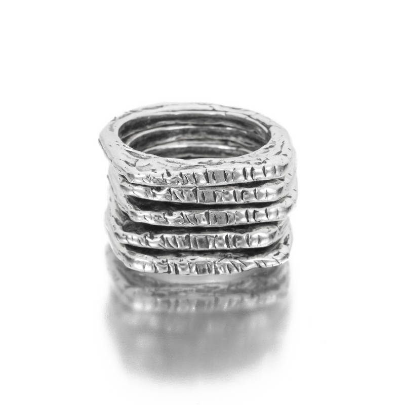Ancient Squares Stacking Rings